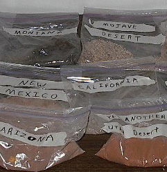 Isaac's dirt/sand collection